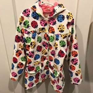 Hatley colorful ladybug raincoat